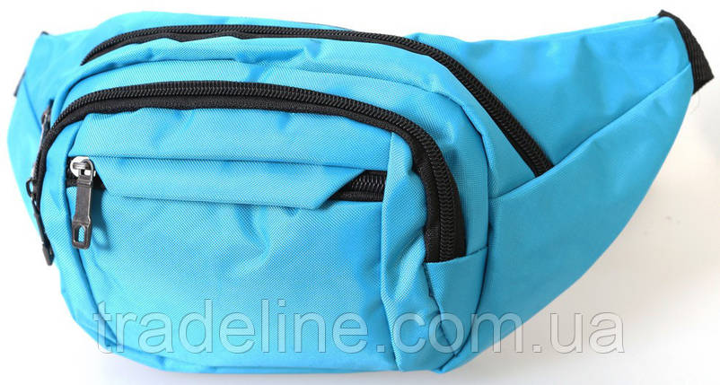 Сумка текстильная поясная Dovhani Q003-21Laguna167 Бирюзовый, фото 2