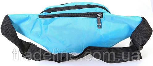 Сумка текстильная поясная Dovhani Q003-21Laguna167 Бирюзовый, фото 3