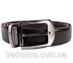 Ремень двухсторонний мужской Dovhani G301137182 110-120 см Черный, фото 3
