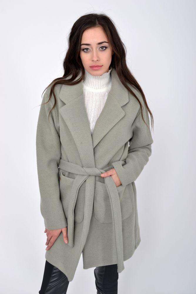 Пальто женское 115R052 цвет Оливковый размер L