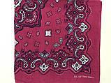 Хлопковая розовая бандана классический рисунок, фото 2