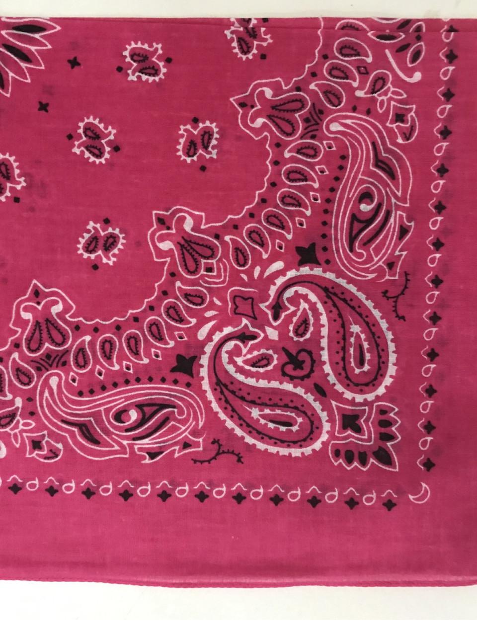 Хлопковая розовая бандана классический рисунок