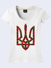 Женская футболка Трезубец в маках