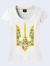 Женская футболка Трезубец в цветах