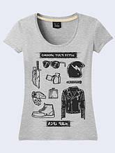 Женская футболка Style and ride