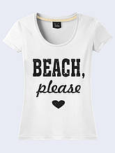 Женская футболка Beach, please
