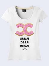 Женская футболка Creme de la creme