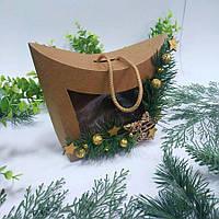 Коробка подарункова з декором 155х80х140 мм.