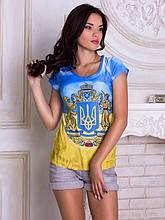 Женская футболка Украинский Герб