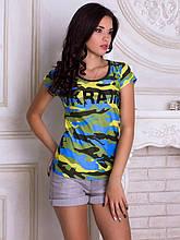 Женская футболка Украинский камуфляж