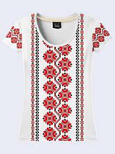 Женская футболка Украинская вышивка