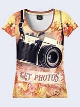 Женская футболка Get photos