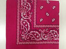 Хлопковая малиновая и розовая летняя бандана платок 55х 55см
