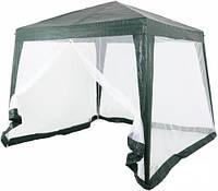 Павильон шатер тент с москитной сеткой и молниями.