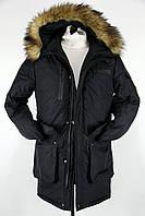 Зимняя мужская парка куртка (длинная c мехом (овчина)) до -30, фото 1