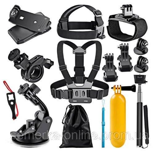 Набор креплений для экшен камер 12 предметов