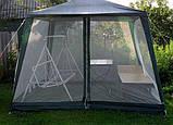 Павильон палатка шатер тент с москитной сеткой и молниями, фото 9