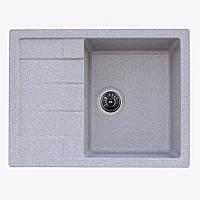 Гранитная мойка Platinum 65*50 Серый(прямоугольная)