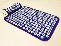 Набор коврик акупунктурный массажный + подушка Аппликатор Кузнецова OSPORT (n-0002) Синий