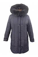 Женская зимняя куртка удлиненная с капюшоном от производителя