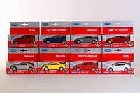 Машинка металл 1:34-39 Nissan, Hyundai, Kia, Honda, Mi WELLY