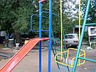 Игровой комплекс для улицы с качелями и горкой, фото 4