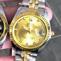 Rolex Date Just Silver-Gold-Gold