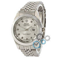 Rolex Date Just All Silver, фото 1