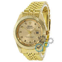 Rolex Date Just All Gold, фото 1