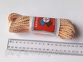 Шнур текстильний декоративний, персиковий. Діаметр 4 мм.  Моток 9.5-10 метрів. Туреччина.