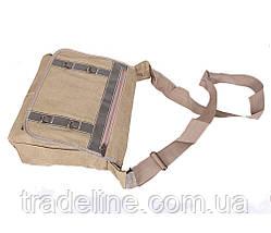 Сумка мужская текстильная Dovhani S303227299 А4 Бежевая, фото 3