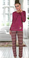 Жіночий домашній костюм Sabrina F-41420 бавовна батальний