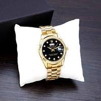 Rolex Date Just Diamonds Small Gold-Black, фото 1