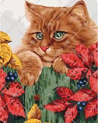Картина по номерам Рыжий кот