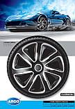Колпаки колесные Livorno Carbon Silver Black R16, фото 2