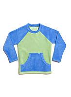 Кофта для мальчика флисовая (на рост 116-146 в расцветках) фисташковый-васильковый, 116