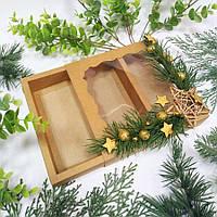 Коробка подарункова з декором 160х160х35 мм.