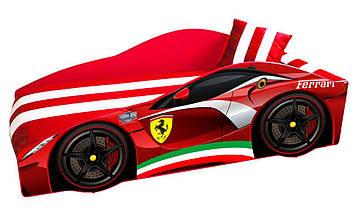 Кровать детская машина серии Elit с матрасом 80х170 см Е-2 Ferrari красный, фото 2