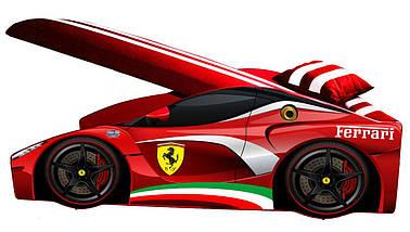 Кровать детская машина серии Elit с матрасом 80х170 см Е-2 Ferrari красный, фото 3