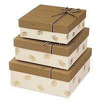 """Праздничные коробки для подарков """"For you"""" набор 3 шт."""