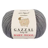 Пряжа из кашемира Gazzal Baby wool 818 темно-серый (Газзал Беби вул)