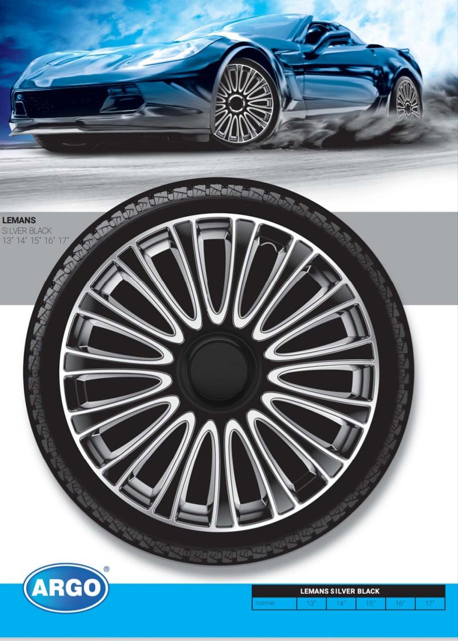 Колпаки колесные Lemans Silver Black R15