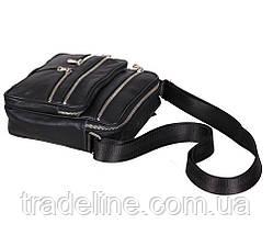 Мужская кожаная сумка Dovhani 60-29BLACK325 Черная 22 х 19 х 7см, фото 3