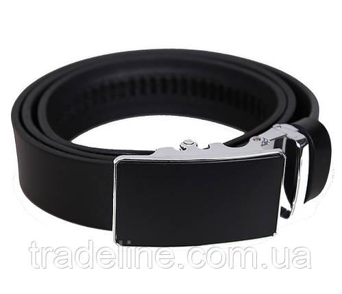 Мужской кожаный ремень Dovhani UK888-88330 120 см Черный, фото 2
