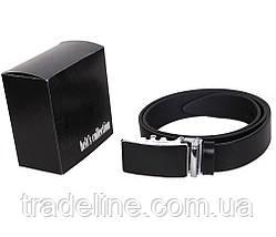 Мужской кожаный ремень Dovhani UK888-88330 120 см Черный, фото 3