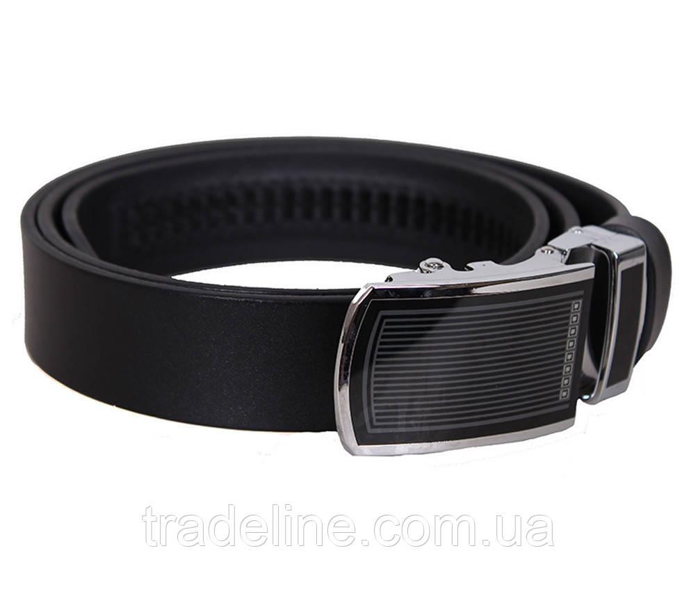 Мужской кожаный ремень Dovhani UK888-90332 120 см Черный