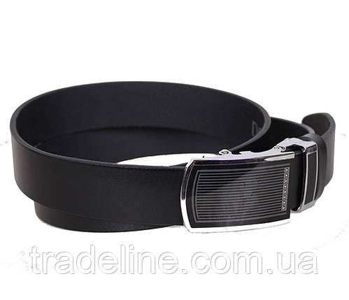 Мужской кожаный ремень Dovhani UK888-90332 120 см Черный, фото 2