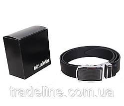 Мужской кожаный ремень Dovhani UK888-90332 120 см Черный, фото 3