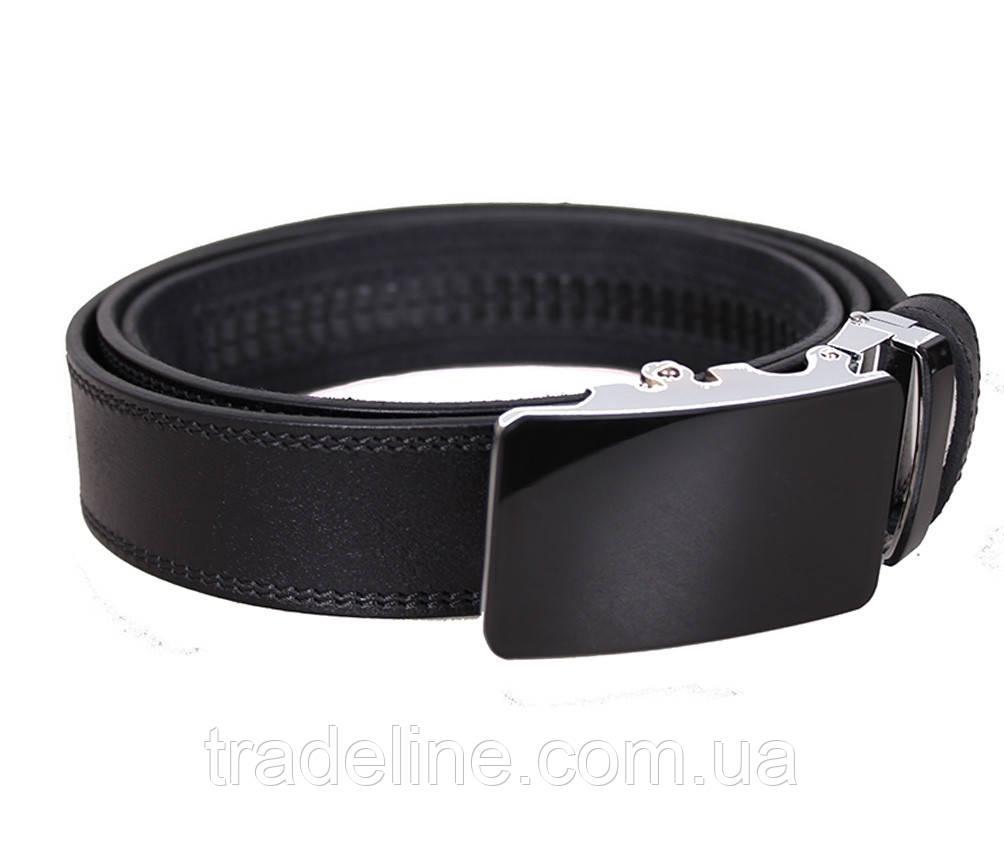Мужской кожаный ремень Dovhani UK888-91333 120 см Черный