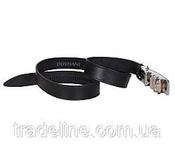Мужской кожаный ремень Dovhani UK888-91333 120 см Черный, фото 2